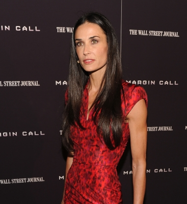 Demi Moore attends the 'Margin Call' premiere at the Landmark Sunshine Cinema, NYC, on October 17, 2011