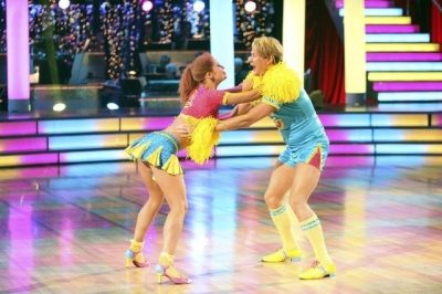 Anna Trebunskaya and Carson Kressley jive to a score of 19/30 on Week 5 of 'Dancing with the Stars,' Oct. 17, 2011