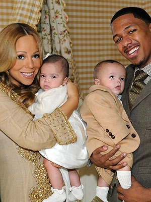 Mariah Carey and Nick Cannon with twins Moroccan and Monroe on ABC's '20/20'