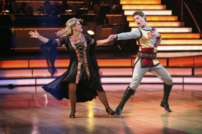 Tristan MacManus and Nancy Grace perform during Week 6 of 'Dancing with the Stars,' Season 13, Oct. 24, 2011