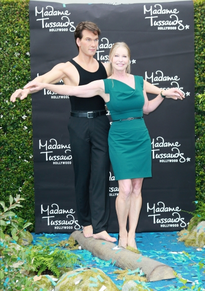 Lisa Niemi Swayze attends the unveiling of Patrick Swayze&#8217;s wax figure at Madame Tussauds Hollywood on October 18, 2011 in Hollywood