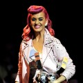 Katy Perry receives the award for Best Live act during the MTV Europe Music Awards 2010 live show at at the Odyssey Arena, Belfast, N. Ireland, November 6, 2011