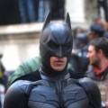 Christian Bale shoots scenes as Batman for the upcoming film &#8216;The Dark Knight Rises&#8217; in New York City on November 6, 2011