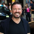 Ricky Gervais departs 'The Late Show With David Letterman' at the Ed Sullivan Theater, New York City, on August 2, 2011