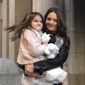 Suri Cruise and Katie Holmes step out in NYC on November 10, 2011