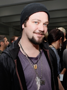 Bam Margera backstage at the The Blonds Spring 2012 fashion show during Mercedes-Benz Fashion Week at Center 548 on September 14, 2011