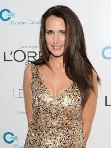Andie MacDowell attends the L&#8217;Oreal Legends Gala to Benefit Ovarian Cancer Research Fund at American Museum of Natural History, NYC, on November 2, 2011