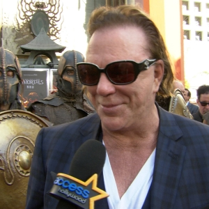 Mickey Rourke's Emotional Hand & Foot Ceremony At Grauman's Chinese Theatre