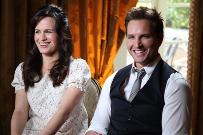 Elizabeth Reaser and Peter Facinelli at the junket for 'The Twilight Saga: Breaking Dawn — Part 1,' Los Angeles, Nov. 3, 2011