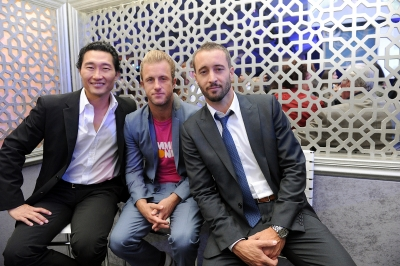 Daniel Dae Kim, Scott Caan and Alex O&#8217;Loughlin at CBS&#8217;s Upfront party at New York&#8217;s Lincoln Center following the 2011 CBS Upfront presentation at Carnegie Hall on Wednesday, May 18, 2011