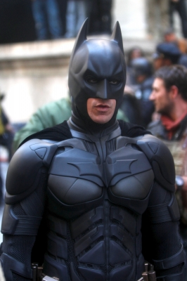 Christian Bale shoots scenes as Batman for the upcoming film 'The Dark Knight Rises' in New York City on November 6, 2011