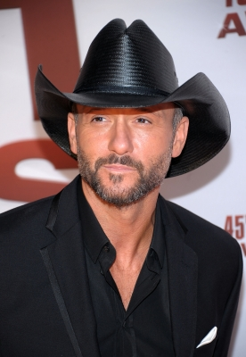 Tim McGraw attends the 45th annual CMA Awards at the Bridgestone Arena, Nashville, on November 9, 2011