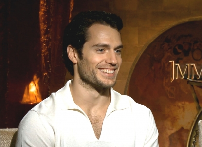 Henry Cavill chats with Access Hollywood at the 'Immortals' junket on October 29, 2011