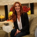 Poppy Montgomery is all smiles on the set of Access Hollywood Live in Burbank, Calif., on November 14, 2011