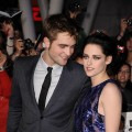 Robert Pattinson looks at his co-star, Kristen Stewart, while at the premiere of &#8216;The Twilight Saga: Breaking Dawn &#8212; Part 1&#8217; at the Nokia Theatre L.A. Live, Los Angeles, Nov. 14, 2011