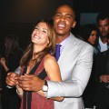 Elisabetta Canalis and Mehcad Brooks share a moment at the launch of The Beauty Book For Brain Cancer at Grauman's Chinese Theatre in Hollywood, Calif. on November 14, 2011