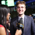 Access' Shaun Robinson interviews Robert Pattinson at the premiere of 'The Twilight Saga: Breaking Dawn — Part 1' at the Nokia Theatre L.A. Live in Los Angeles on November 14, 2011