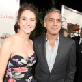 Shailene Woodley and George Clooney step out the Los Angeles Premiere of 'The Descendants' in Beverly Hills, Calif. on November 15, 2011