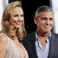 Stacy Keibler and George Clooney arrive at the Los Angeles Premiere &#8216;The Descendants&#8217; in Beverly Hills, Calif. on November 15, 2011 