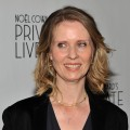 Cynthia Nixon attends the 'Private Lives' Broadway opening night (starring Kim Cattrall) at the Music Box Theatre on November 17, 2011