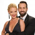 Katherine Heigl and Josh Kelley pose for a portrait at the 2011 American Music Awards held at Nokia Theatre L.A. LIVE in Los Angeles on November 20, 2011 