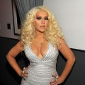 Christina Aguilera strikes a pose backstage at the 2011 American Music Awards held at Nokia Theatre L.A. LIVE in Los Angeles on November 20, 2011