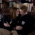 Kellan Lutz steals a quick kiss from Ashley Greene in this scene from &#8216;A Warrior&#8217;s Heart&#8217;