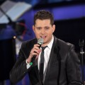 Michael Buble performs on stage during the 'Il Piu Grande Spettacolo Dopo Il Weekend' TV show at Cinecitta, Rome, Italy, on November 21, 2011