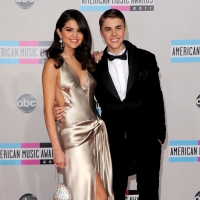 Selena Gomez and Justin Bieber steps out at the 2011 American Music Awards held at Nokia Theatre L.A. Live in Los Angeles on November 20, 2011