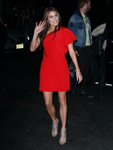Nikki Reed arrives to 'The Late Show With David Letterman' at the Ed Sullivan Theater, New York City, on November 15, 2011