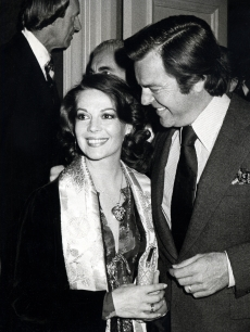Natalie Wood and Robert Wagner during Look Magazine Party at Jimmy's Restaurant in Beverly Hills, February 14, 1979