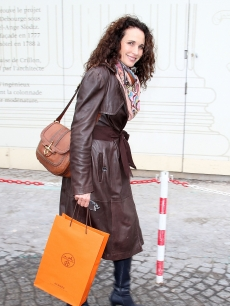 Andie MacDowell steps out on the Place de la Concorde, Paris, on November 25, 2011