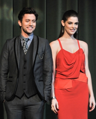 Jackson Rathbone and Ashley Greene attend the premiere of 'The Twilight Saga: Breaking Dawn — Part 1' at the Winter Garden Theatre, Toronto, Canada, on November 17, 2011