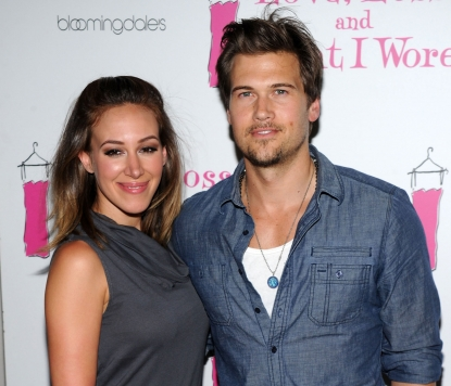 Haylie Duff and Nick Zano attend the 'Love, Loss, and What I Wore' new cast member celebration at 44 1/2 in New York City on July 1, 2010