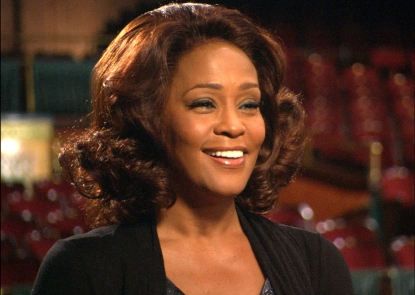 Whitney Houston chats with Access Hollywood on the set of 'Sparkle' in Detroit on November 10, 2011