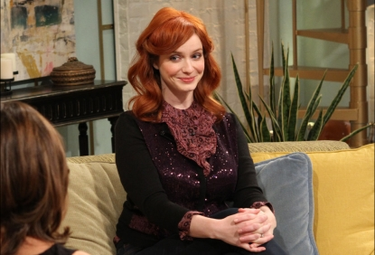 'Mad Men' star Christina Hendricks seen on the set of Access Hollywood Live in Burbank, Calif., on November 15, 2011