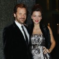 Peter Sarsgaard and wife Maggie Gyllenhaal attend the Armani Hotel Milano Opening, Milan, Italy, on November 10, 2011