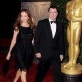 Kelly Preston and John Travolta arrive at the Academy of Motion Picture Arts and Sciences' 3rd Annual Governors Awards at the Hollywood & Highland Grand Ballroom, Los Angeles, on November 12, 2011