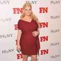 Jessica Simpson shows off her baby bump at the 25th Annual Footwear News Achievement Awards at the Museum of Modern Art in New York City on November 29, 2011