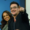 Alicia Keys Bono participate in a round-table discussion with others leaders on World AIDS Day at the Jack Morton Auditorium on the campus of George Washington University, Washington D.C.,  December 1, 2011