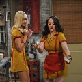 Beth Behrs and Kat Dennings in CBS' '2 Broke Girls'