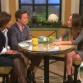 Kit Hoover and Bill Bush interview Maggie Q, who shows off her 'Nikita' injuries to her hand (bottom inset), Dec. 2, 2011