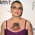 Sinead O&#8217;Connor steps out at the amfAR Inspiration Gala at Chateau Marmont in Los Angeles on October 27, 2011