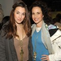 Rainey Qualley and her mother, Andie MacDowell, visit the Samsung Galaxy Tab Lift, Sundance, Park City, Utah, on January 23, 2011