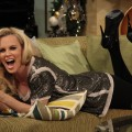 Jenny McCarthy strikes a pose on Access Hollywood Live on December 15, 2011
