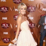 Carrie Underwood arrives at the American Country Awards 2011 at the MGM Grand Garden Arena in Las Vegas on December 5, 2011