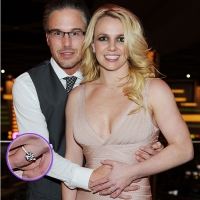 Jason Trawick and Britney Spears celebrate their engagement at Planet Hollywood Resort & Casino in Las Vegas on December 16, 2011