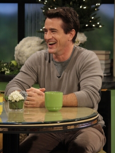 Dermot Mulroney has a laugh on the set of Access Hollywood Live on December 7, 2011