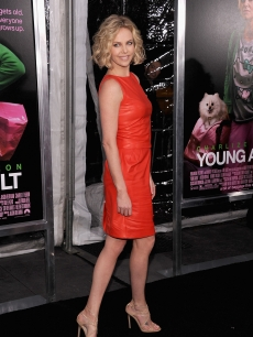 Charlize Theron attends the 'Young Adult' world premiere at the Ziegfeld Theatre, New York City, on December 8, 2011