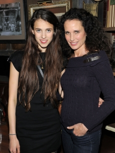 Sarah Margaret Qualley and Andie MacDowell attend the after party for the Cinema Society &amp; DKNY screening of &#8216;The Twilight Saga: Breaking Dawn - Part 1&#8217; at Sons of Essex, New York City, on November 16, 2011